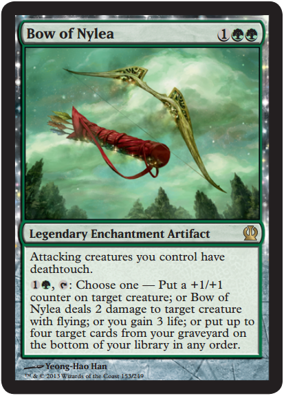 Magic the Gathering Theros Visual Spoiler Bow of Nylea Card Image Karte