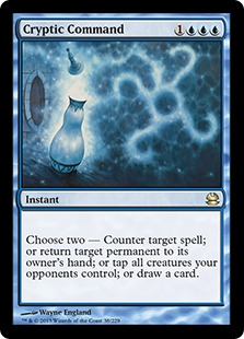 Magic the Gathering Weltmeisterschaft Top Karte Card Cryptic Command