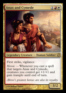 Magic the Gathering Theros Spoiler Card Image Karte Anax and Cymede