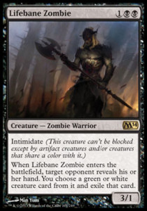 Magic the Gathering Lifebane Zombie Card Image Karte
