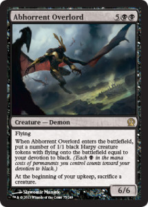 Magic the Gathering Theros Visual Spoiler Abhorrent Overlord Card Image Karte