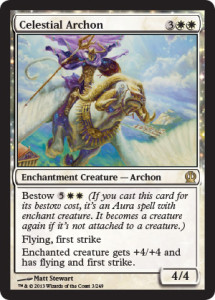 Magic the Gathering Theros Visual Spoiler Celestial Archon Card Image Karte