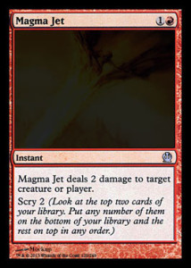 Magic the Gathering Theros Visual Spoiler Magma Jet Card Image Karte
