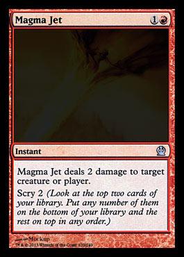 Magic the Gathering Theros Visual Spoiler Magma Jet Card Image Karte