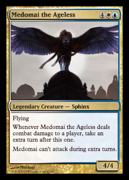Magic the Gathering Theros Visual Spoiler Medomai the Ageless Card Image Karte