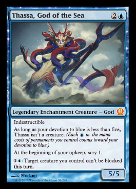 Magic the Gathering Theros Visual Spoiler Thassa God of the Sea Card Image Karte