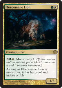Magic the Gathering Theros Visual Spoiler Fleecemane Lion