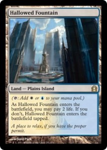 Magic the Gathering Return to Ravnica Hallowed Fountain Shockland