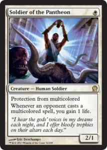 Magic the Gathering Theros Visual Spoiler Soldier of the Pantheon Card Image Karte