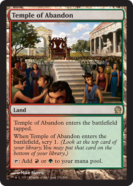 Magic the Gathering Theros Visual Spoiler Temple of Abadon