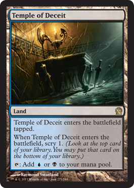 Magic the Gathering Theros Visual Spoiler Temple of Deceit