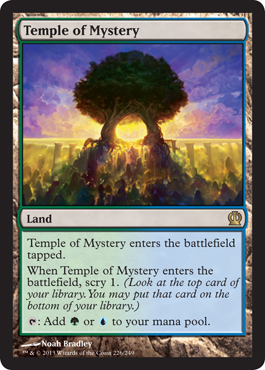 Magic the Gathering Theros Visual Spoiler Temple of Mystery
