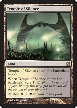 Magic the Gathering Theros Visual Spoiler Temple of Silence