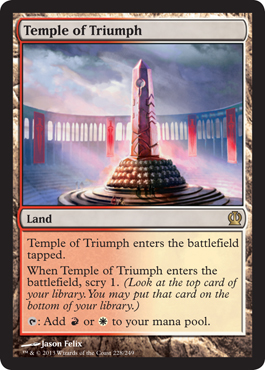 Magic the Gathering Theros Visual Spoiler Temple of Triumph