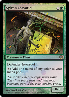 Magic the Gathering Theros Buy a Box Promo Foil Card Karte Sylvan Caryatid