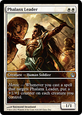 Magic the Gathering Theros Game Day Promo Foil Card Karte Phalanx Leader