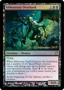 Magic the Gathering Theros PreRelease Promo Foil Card Karte Abhorrent Overlord