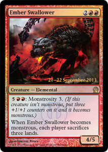 Magic the Gathering Theros PreRelease Promo Foil Card Karte Ember Swallower