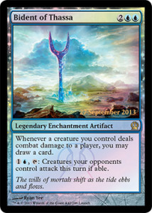 Magic the Gathering Theros Release Promo Foil Card Karte Bident of Thassa