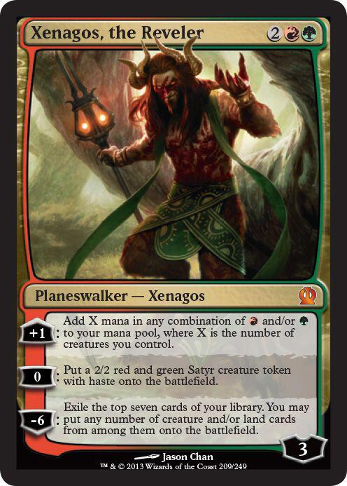 Magic the Gathering Theros Visual Spoiler Card Image Karte Planeswalker Xenagos the Reveler