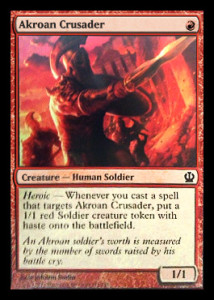 Magic the Gathering Theros Visual Spoiler Card Image Karte Akroan Crusader