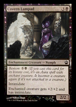 Magic the Gathering Theros Visual Spoiler Card Image Karte Cavern Lampad