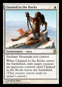 Magic the Gathering Theros Visual Spoiler Card Image Karte Chained to the Rocks