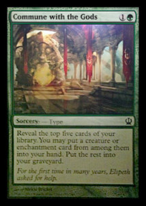 Magic the Gathering Theros Visual Spoiler Card Image Karte Commune with the Gods