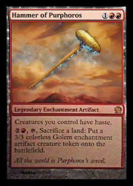 Magic the Gathering Theros Visual Spoiler Card Image Karte Hammer of Purphoros