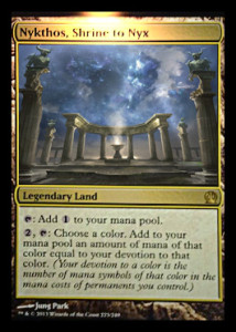 Magic the Gathering Theros Visual Spoiler Card Image Karte Nykthos Shrine to Nyx