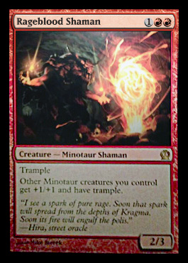 Magic the Gathering Theros Visual Spoiler Card Image Karte Rageblood Shaman