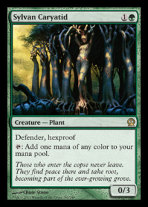 Magic the Gathering Theros Visual Spoiler Sylvan Caryatid