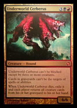 Magic the Gathering Theros Visual Spoiler Card Image Karte Underworld Cerberus