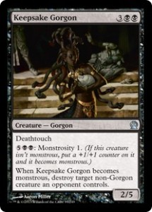 Magic the Gathering Grand Prix Theros Sealed Booster Draft Top Karte Card Image Oklahoma City Keepsake Gorgon