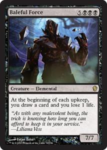 Magic the Gathering Commander 2013 Visual Spoiler Card Image Karte Baleful Force