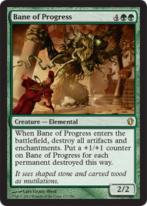 Magic the Gathering Commander 2013 Visual Spoiler Card Image Karte Bane of Progress