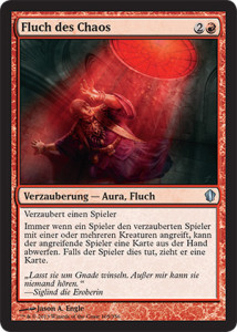 Magic the Gathering Commander 2013 Visual Spoiler Card Image Karte Curse of Chaos