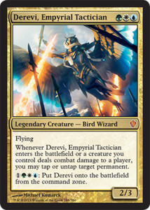 Magic the Gathering Commander 2013 Visual Spoiler Card Image Karte Derevi Empyrial Tactician