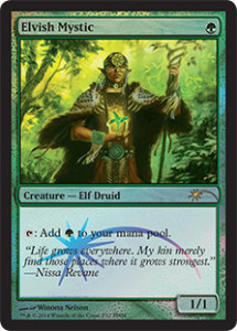 FNM Friday Night Magic Promo Foil Februar 2014 Elvish Mystic Elfen-Mystiker