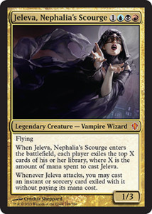 Magic the Gathering Commander 2013 Visual Spoiler Card Image Karte Jeleva Nephalias Scourge