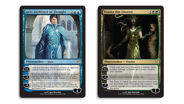 Magic the Gathering Duel Decks Jace vs Vraska Spoiler Jace Architect of Thought Vraska the Unseen, Jace der Gedankenarchitekt,  Vraska die Unbetrachtete