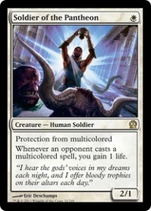 Magiclinks.de Magic the Gathering Standard Top Card Karte Image Soldier of the Pantheon