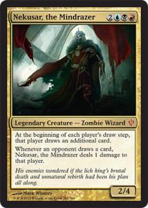Magic the Gathering Commander 2013 Visual Spoiler Card Image Karte Nekusar the Mindrazer