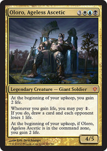 Magic the Gathering Commander 2013 Visual Spoiler Card Image Karte Oloro Ageless Ascetic