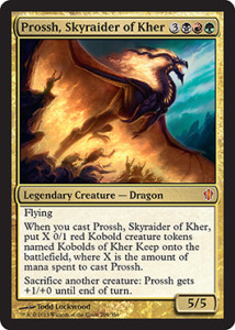 Magic the Gathering Commander 2013 Visual Spoiler Card Image Karte Prossh Skyraider of Kher