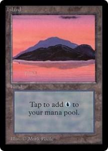 Magic the Gathering Card Image Beta Island