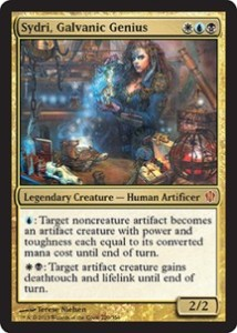 magiclinks.de Magic the Gathering Commander 2013 Spoiler Sydri Galvanic Genius