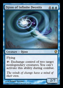 magiclinks.de Magic the Gathering Commander 2013 Spoiler Djinn of Infinite Deceits