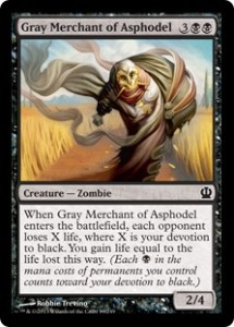 Magic the Gathering Grand Prix Standard Albuquerque Top Card Gray Merchant.of Asphodel
