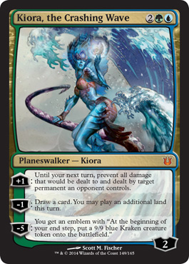Magic the Gathering Born of the Gods Visual Spoiler Planeswalker Kiora the Crashing Wave